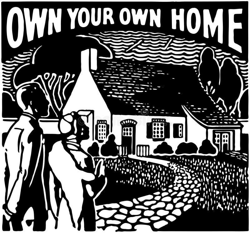 Bezit Uw Eigen Huis vector illustratie