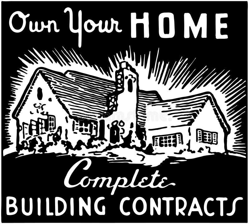 Bezit Uw Huis 2 stock illustratie