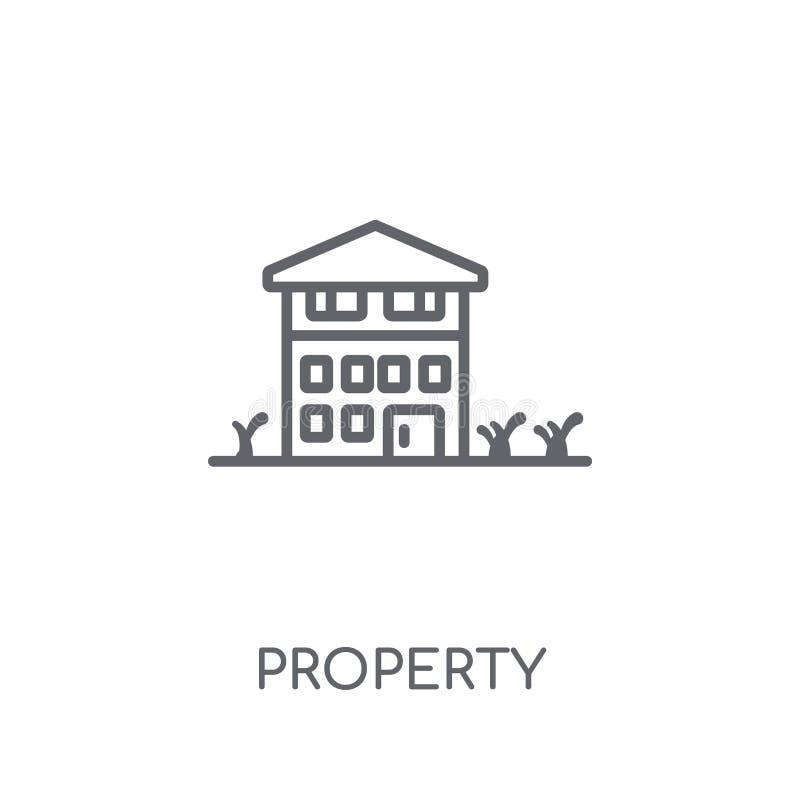 Bezits lineair pictogram Modern het embleemconcept van het overzichtsbezit op wh stock illustratie