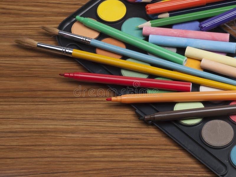 Bezittingen voor tekening stock afbeeldingen