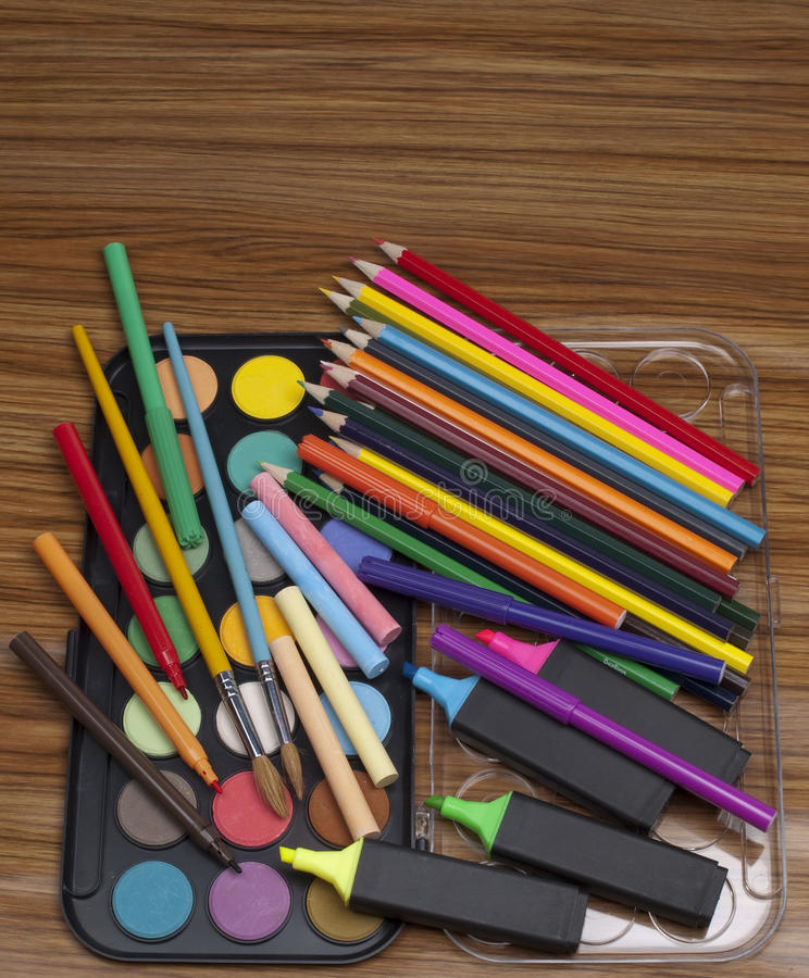 Bezittingen voor tekening stock foto