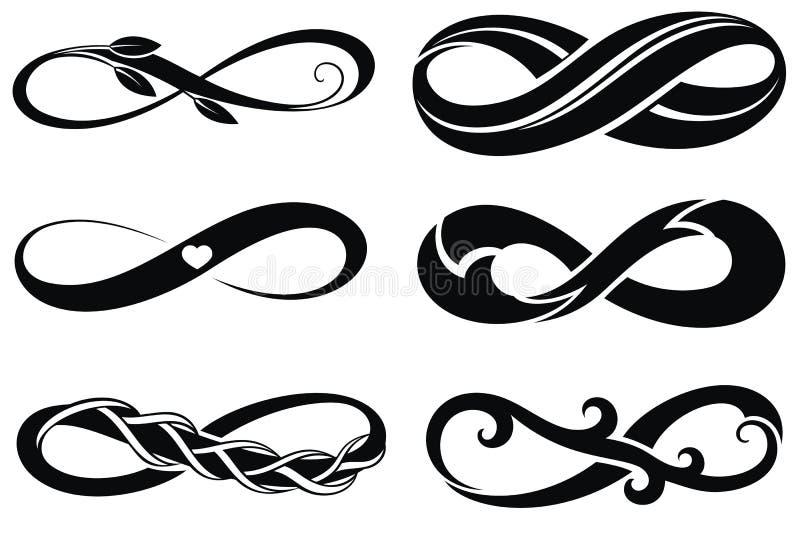 ' bezkres ' Tatuaży symbole ilustracja wektor