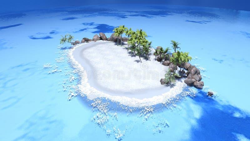 Bezludna wyspa i morze ilustracji