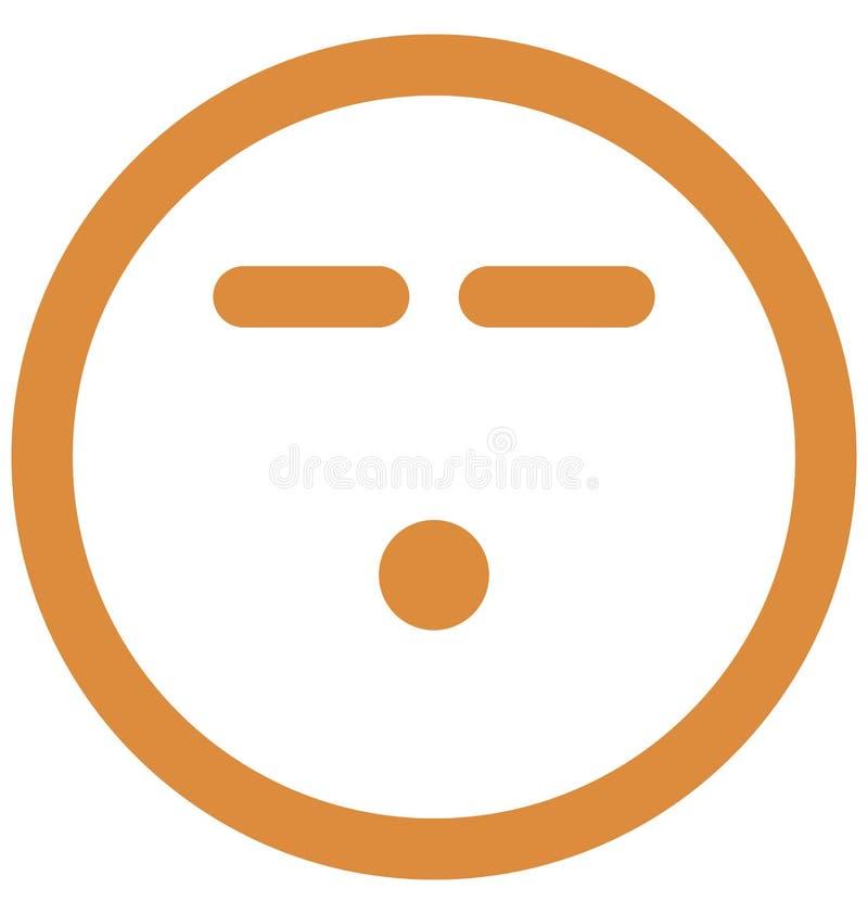 bezmowna, smutna Wektorowa Odosobniona ikona która może łatwo modi bezmowny, smutna Wektorowa Odosobniona ikona która może łatwo  ilustracja wektor