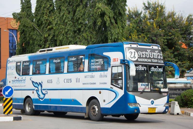 Bezn autobus Nakhonchai wycieczki turysycznej firma Trasy Nakhon ratchasima i fotografia royalty free