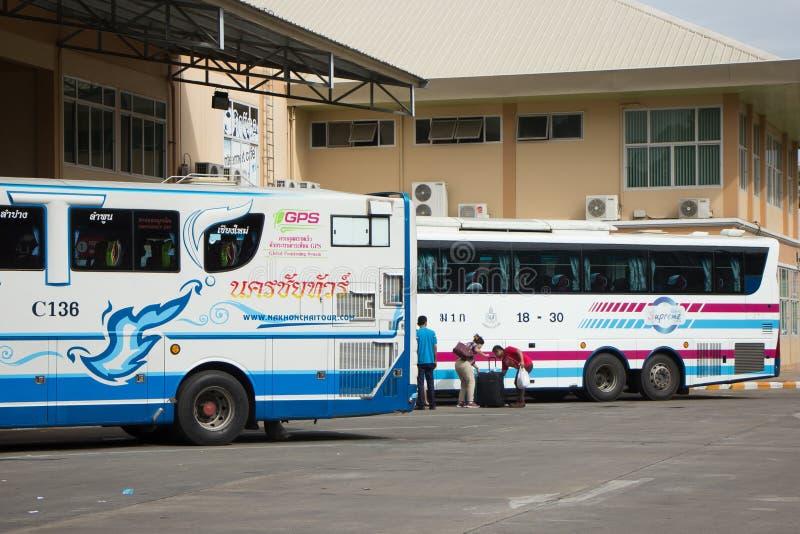 Bezn autobus Nakhonchai wycieczki turysycznej firma Trasy Nakhon ratchasima i zdjęcia stock