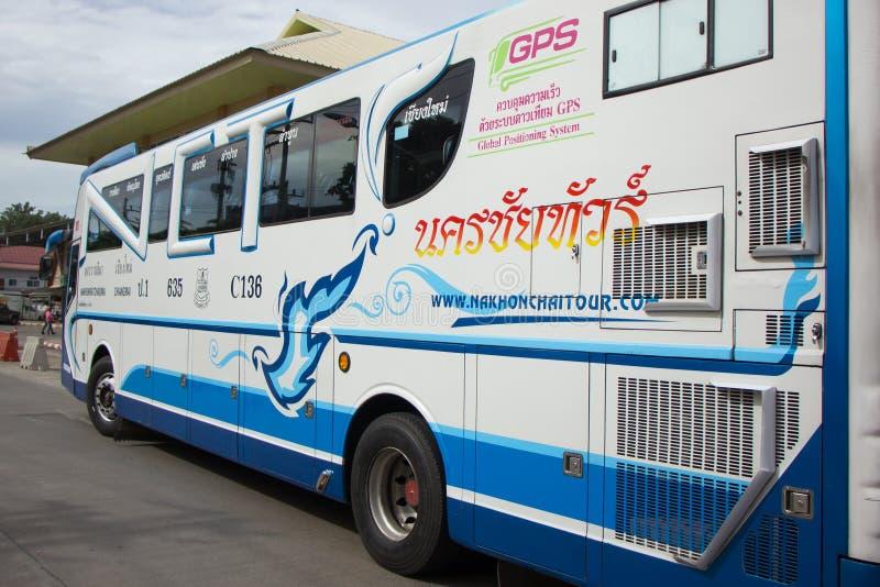Bezn autobus Nakhonchai wycieczki turysycznej firma Trasy Nakhon ratchasima i obrazy stock