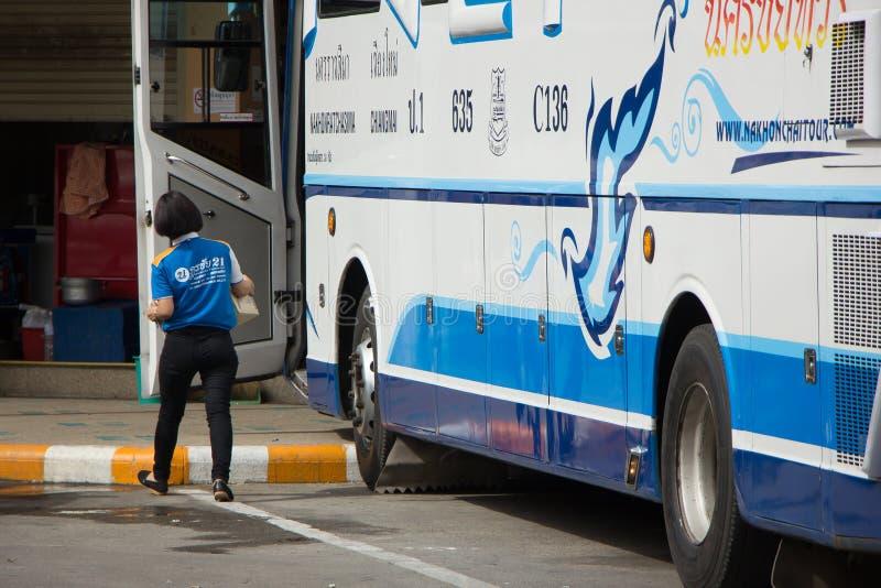 Bezn autobus Nakhonchai wycieczki turysycznej firma Trasy Nakhon ratchasima i zdjęcia royalty free