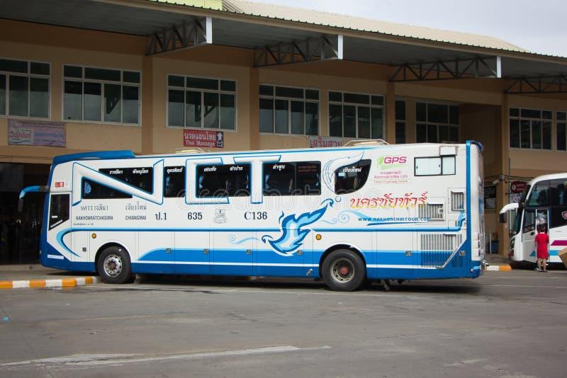 Bezn autobus Nakhonchai wycieczki turysycznej firma Trasy Nakhon ratchasima i obraz stock