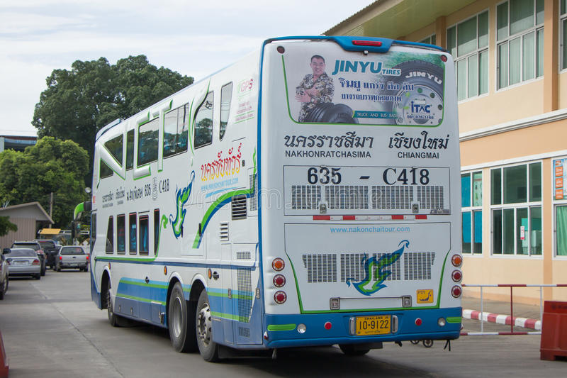 Bezn autobus Nakhonchai wycieczki turysycznej firma Trasy Nakhon ratchasima i obrazy royalty free