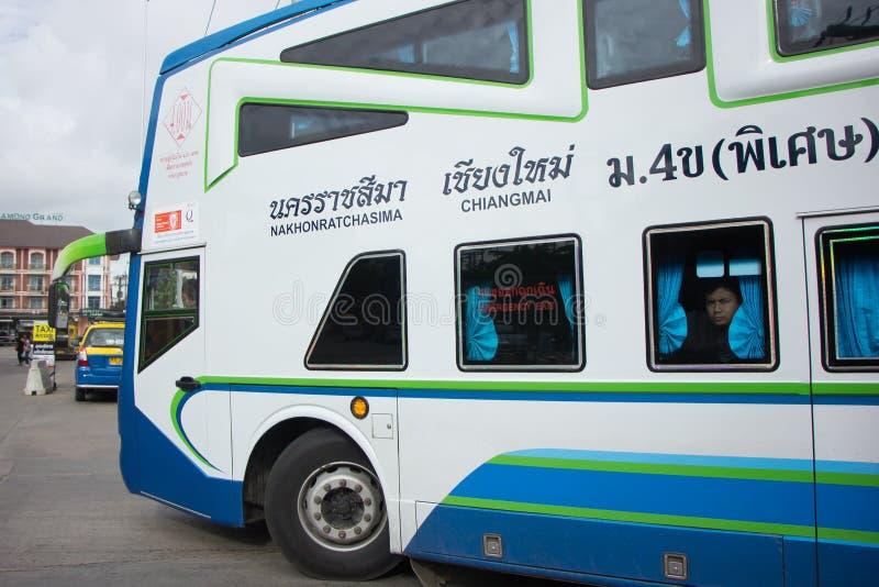 Bezn autobus Nakhonchai wycieczki turysycznej firma Trasy Nakhon ratchasima i zdjęcie stock