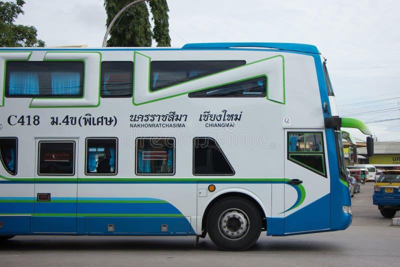Bezn autobus Nakhonchai wycieczki turysycznej firma Trasy Nakhon ratchasima i obraz royalty free