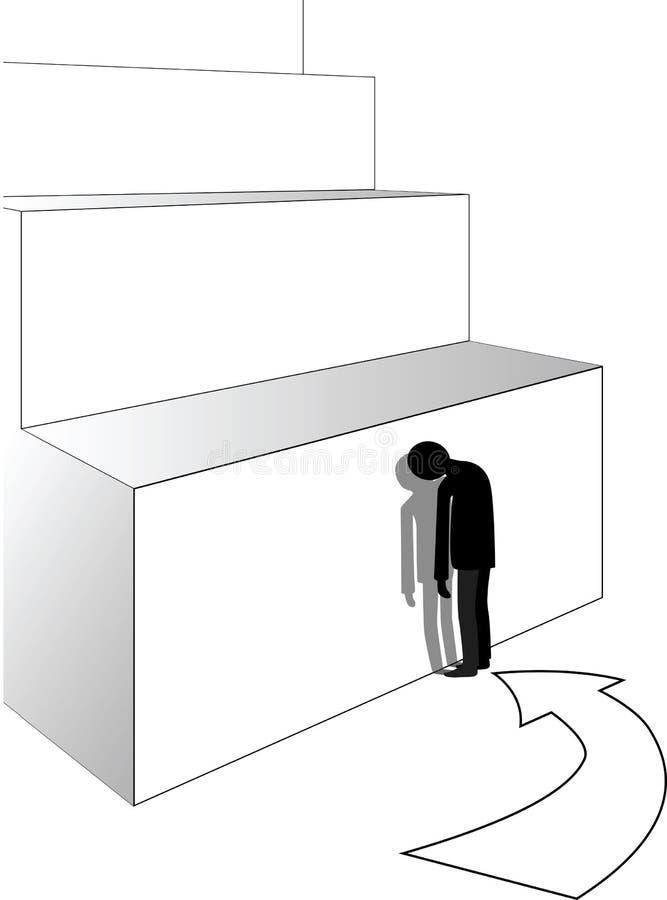 Beznadziejna sytuacja ilustracja wektor