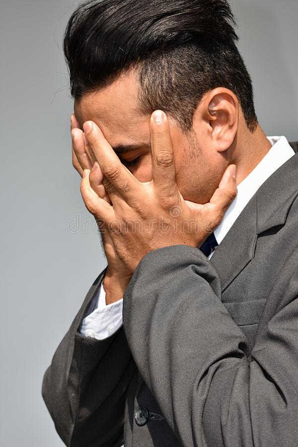 Beznadziejny Biznesowy mężczyzna obrazy stock