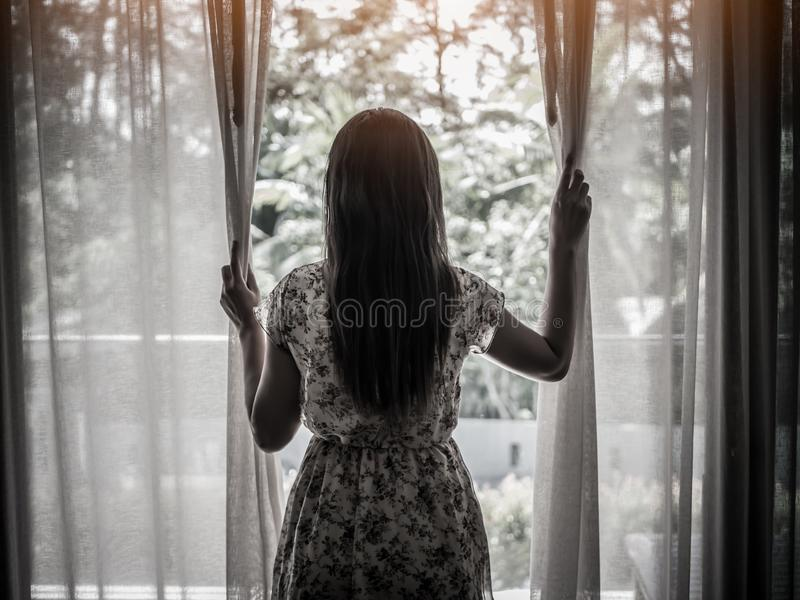 Beznadziejny i smutny kobiety pojęcie obraz stock