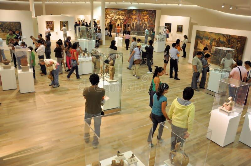 Bezoek aan het Museum stock foto