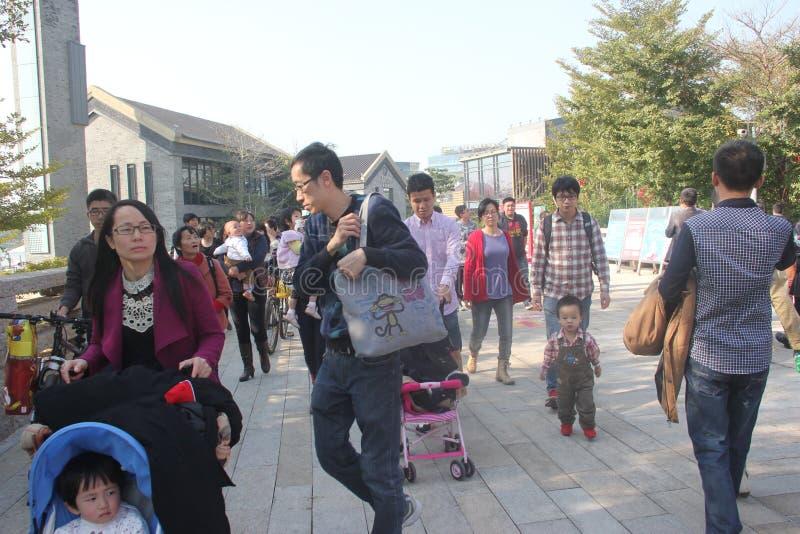 bezoek de stad van Toeristen shenzhen binnen vreugdekust stock foto's