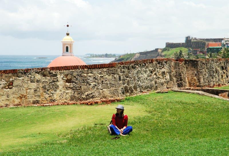 Bezoekend Puerto Rico royalty-vrije stock foto's