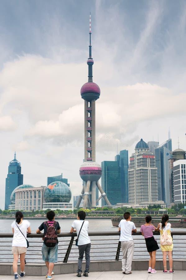 Bezoekend Shanghai royalty-vrije stock foto's