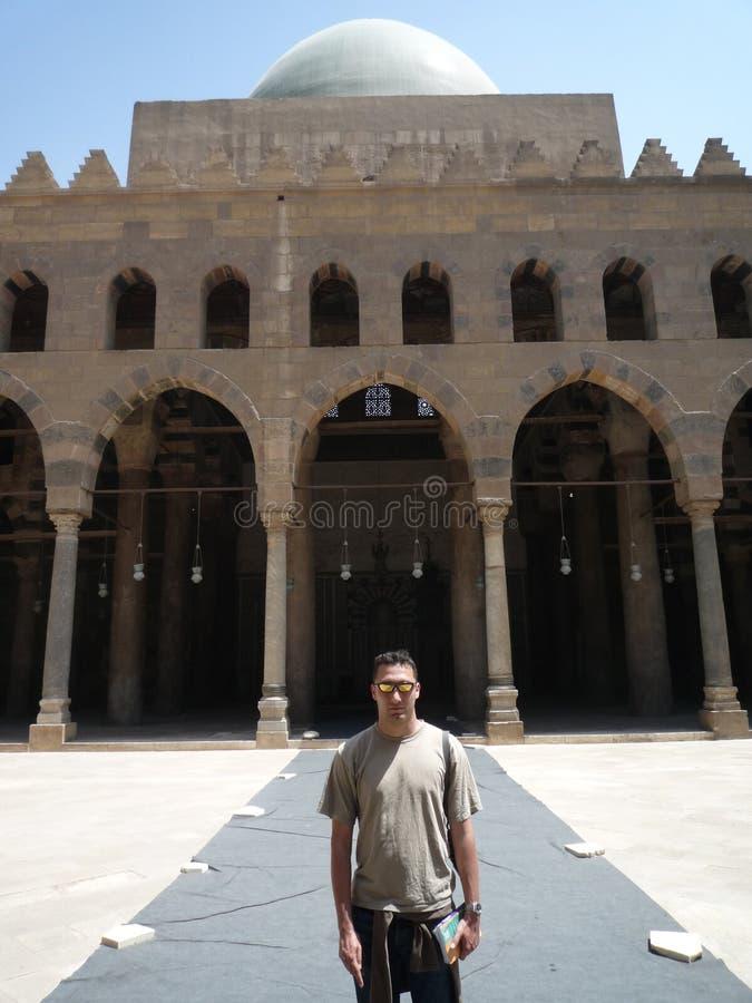 Bezoeker in Citadela in Kaïro, Egypte royalty-vrije stock foto's