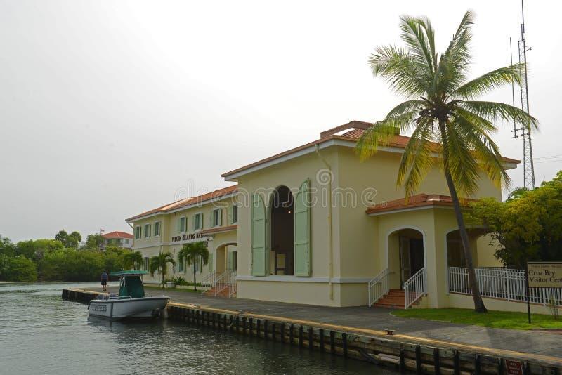 Bezoekercentrum op St John, de Maagdelijke Eilanden van de V.S., de V.S. royalty-vrije stock foto's