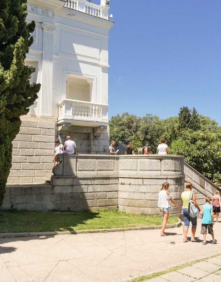 Bezoekers bij het paleis royalty-vrije stock foto