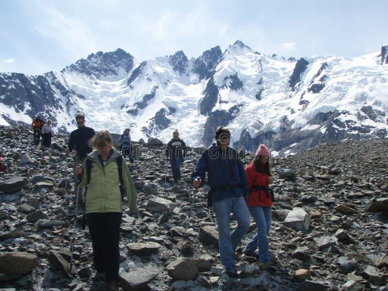 Bezoekers bij Laughton-Gletsjer stock foto