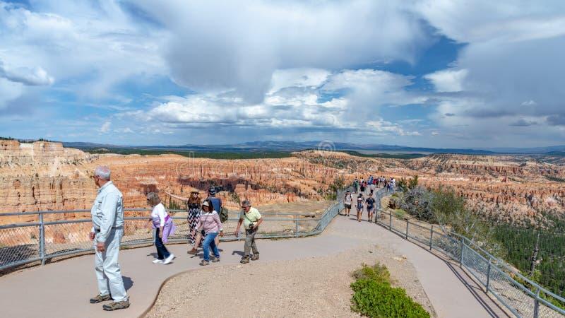 Bezoekers, Bryce Canyon, Utah stock fotografie