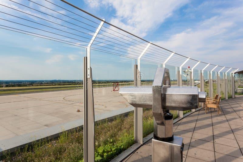 Bezoekersterras van de Luchthaven van Dortmund royalty-vrije stock fotografie