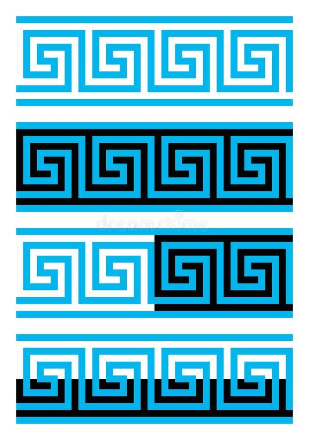 Bezoldeffect op meanderontwerp, optische illusie royalty-vrije illustratie