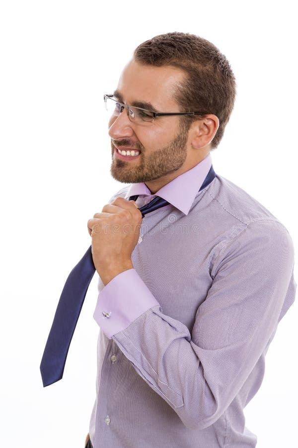 Bezorgde zakenman stock fotografie