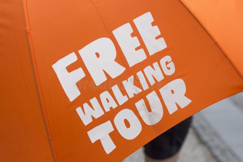 Bezpłatna chodząca wycieczka turysyczna zdjęcie stock