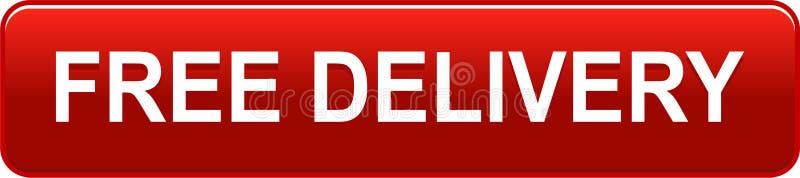Bezpłatna doręczeniowa butoon czerwień ilustracja wektor