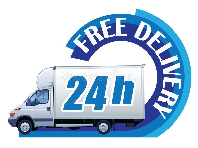 Bezpłatna dostawa - 24h ilustracja wektor