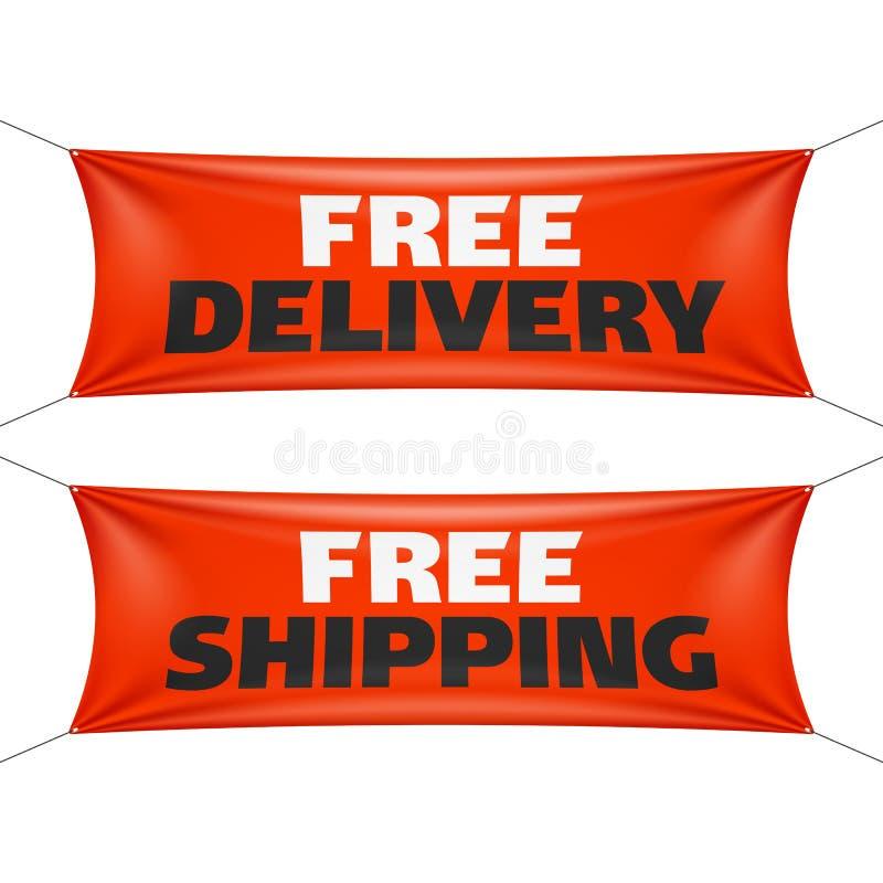 Bezpłatna dostawa i bezpłatni wysyłka sztandary ilustracji