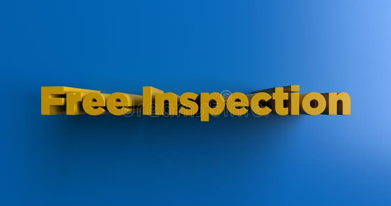 Bezpłatna inspekcja - 3D odpłacał się kolorową nagłówek ilustrację royalty ilustracja