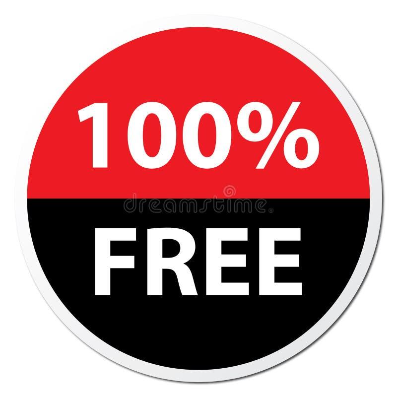 100% Bezpłatna odznaka ilustracja wektor