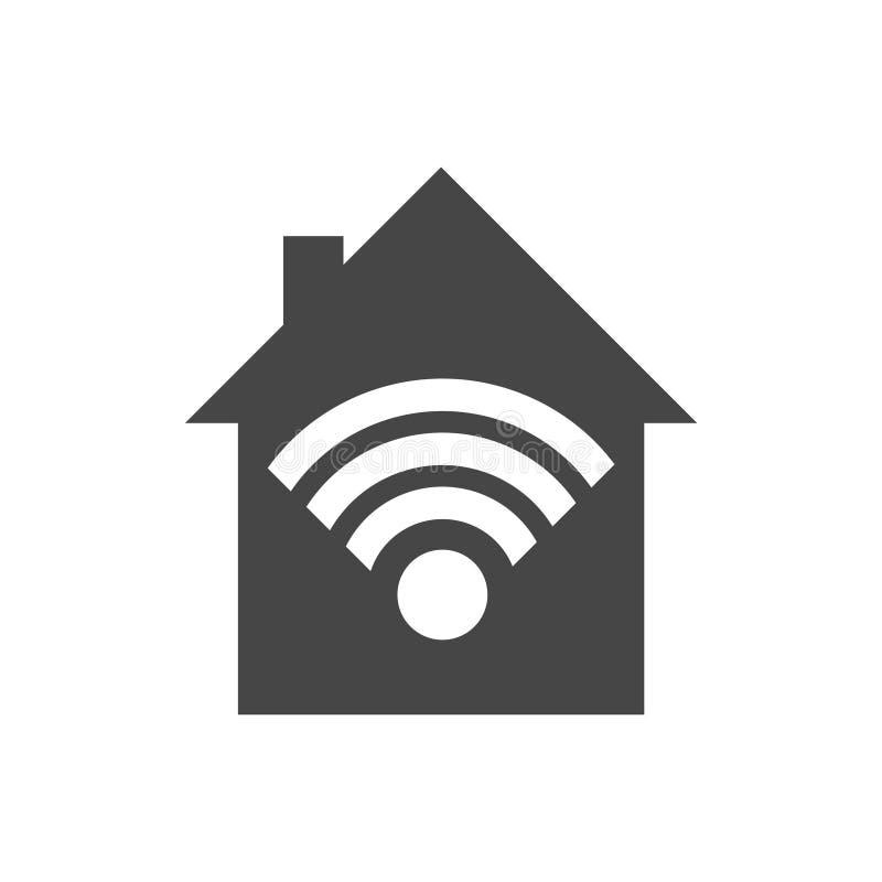 Bezpłatna wifi strefy ikona, radia domowy pojęcie, wektorowa ilustracja ilustracja wektor