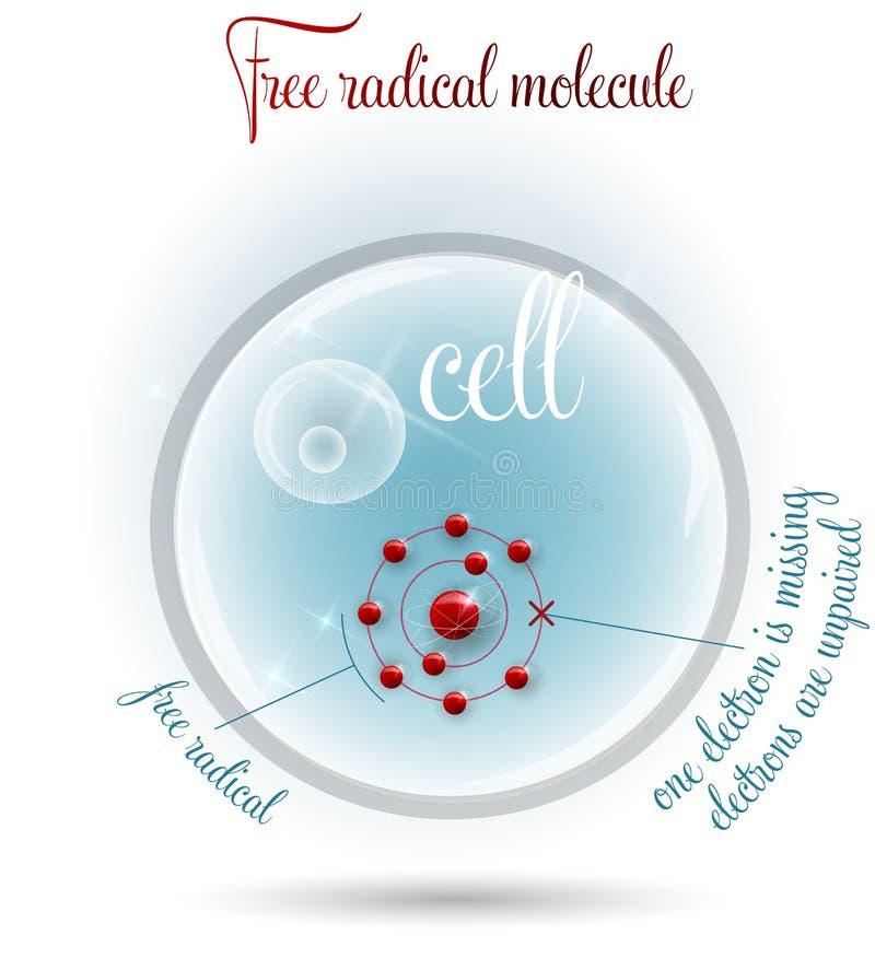 Bezpłatnego radykała molekuła royalty ilustracja