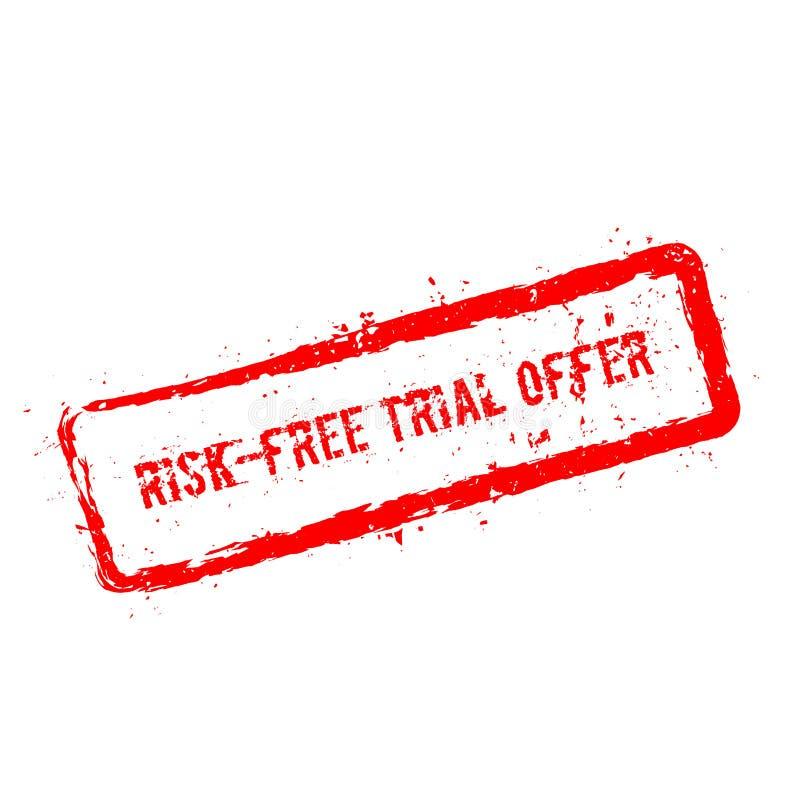 Bezpłatnej próbnej oferty czerwona pieczątka odizolowywająca royalty ilustracja