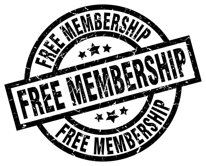 Bezpłatny członkostwo znaczek ilustracji