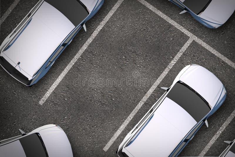 Bezpłatny miejsce parkingowe ilustracji