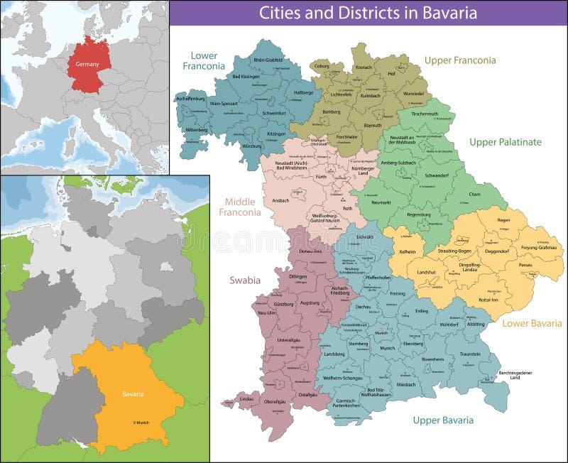 Bezpłatny stan Bavaria ilustracji