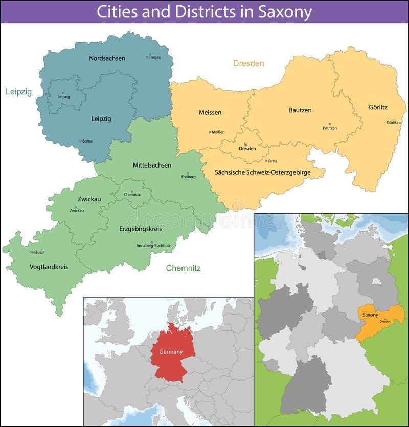Bezpłatny stan Saxony royalty ilustracja