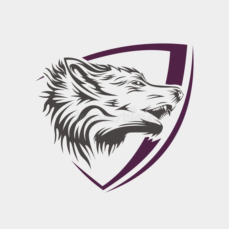 Bezpłatny wektorowy Wilczy logo Tamplate ilustracja wektor