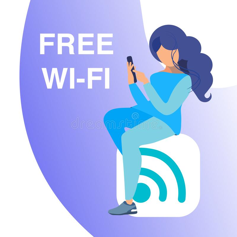 Bezpłatny Wi fi dostęp, Gorącego punktu sztandaru Wektorowy pojęcie royalty ilustracja