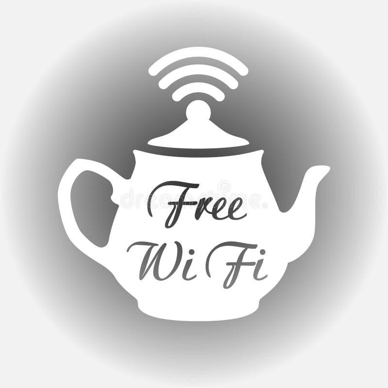 Bezpłatny wifi majcher, bezpłatna fi ikona, bezpłatny wi fi etykietki znak ilustracja wektor