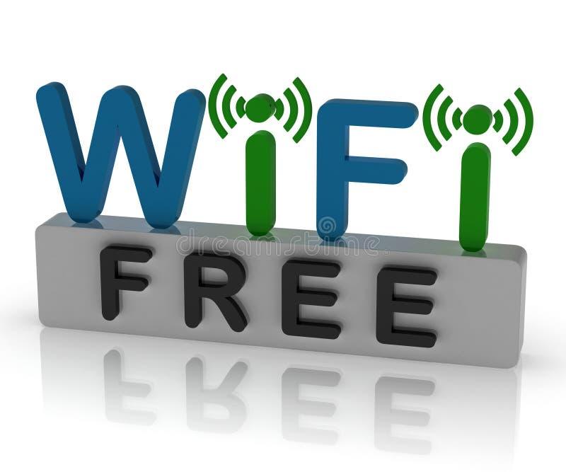 Bezpłatny Wifi Pokazuje połączenie z internetem I wiszącej ozdoby punkt zapalnego royalty ilustracja