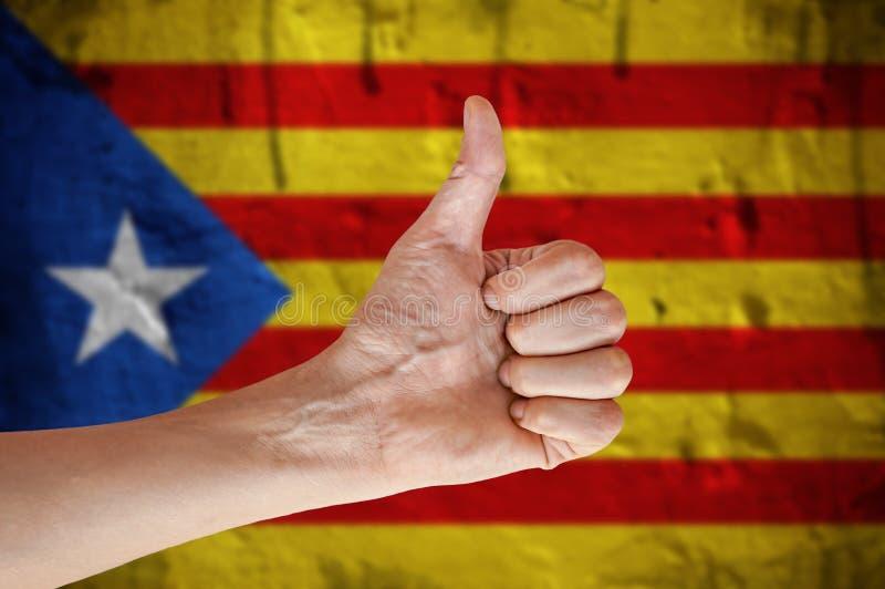 Bezpartyjnik Catalonia kciuk do ręki fotografia royalty free