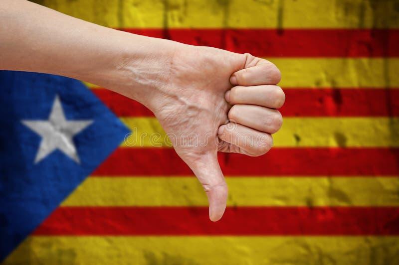 Bezpartyjnik Catalonia ręce na kciuk fotografia royalty free